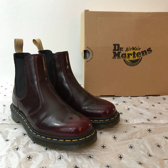 2eb983d9a4f Dr. Martens Vegan 2976 Chelsea Boot Cherry Red 7